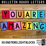 Bulletin Board Letters: KG One More Light Blocks ~ EASY CUT