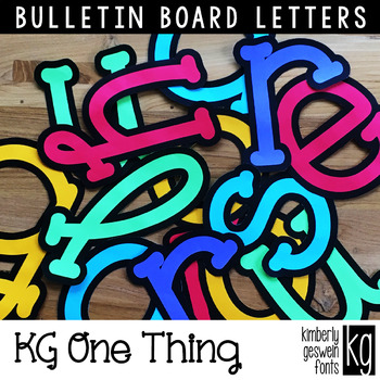 Bulletin Board Letters: KG One Thing