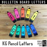Bulletin Board Letters: KG Pencil Letters