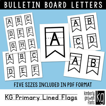 Bulletin Board Letters: KG Primary Lined Flags