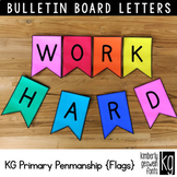 Bulletin Board Letters: KG Primary Penmanship Flags ~ Easy Cut