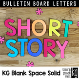 Bulletin Board Letters: KG Blank Space Solid