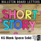 Bulletin Board Letters: KG Blank Space Solid