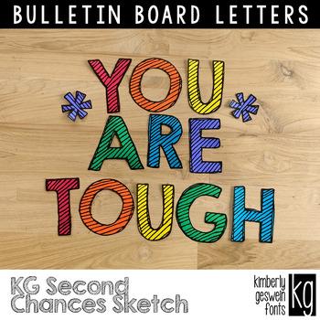 Bulletin Board Letters: KG Second Chances Sketch