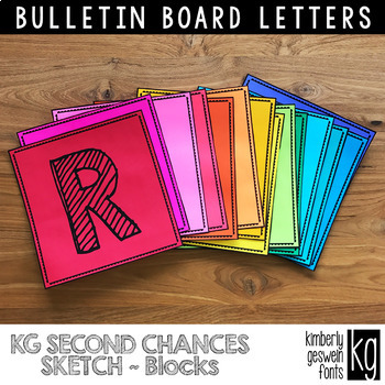 Bulletin Board Letters: KG Second Chances Sketch Blocks ~ Easy Cut