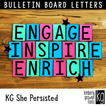 Bulletin Board Letters: KG She Persisted ~ Easy Cut