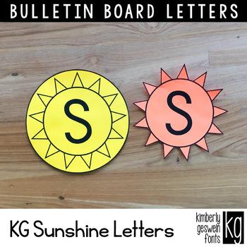 Bulletin Board Letters: KG Sunshine Letters