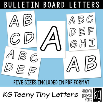 Bulletin Board Letters: KG Teeny Tiny Letters