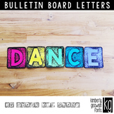 Bulletin Board Letters: KG Thank You Blocks