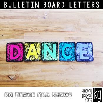 Bulletin Board Letters: KG Thank You Blocks