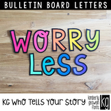 Bulletin Board Letters: KG Who Tells Your Story Letters