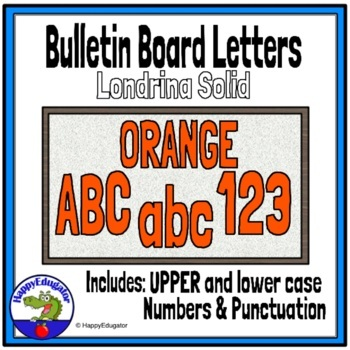 photo relating to Large Printable Numbers 0-9 named Bulletin Board Letters Orange
