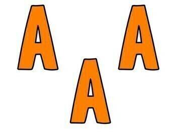 Bulletin Board Letters Orange
