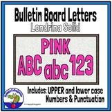 Bulletin Board Letters Pink