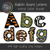 Bulletin Board Letters: Animal Safari Print Bundle (Classroom Decor)