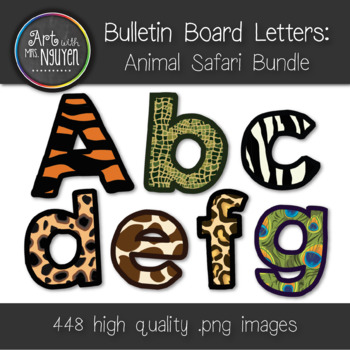 Bulletin Board Letters: Mega Animal Safari Print Bundle (C