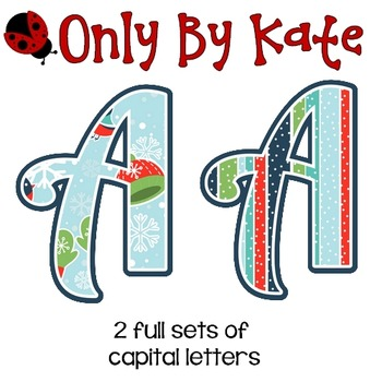 Bulletin Board Letters, Mittens and Scarves, Print Your Own