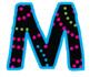 Bulletin Board Letters: Neon Swirl Dots (Classroom Decor)