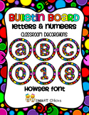 Bulletin Board Letters & Numbers {Classroom Decorations} Howser Dots on Black