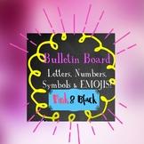 Bulletin Board Set Pink & Black