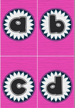 Bulletin Board Set Pink & Black