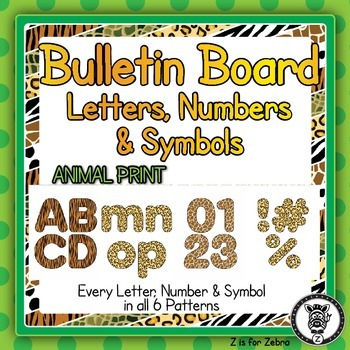 Bulletin Board Letters, Numbers & Symbols