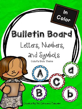 Bulletin Board: Letters, Numbers, and Symbols