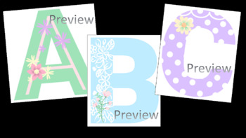 Bulletin Board Letters & Numbers in Pastel Shabby Chic