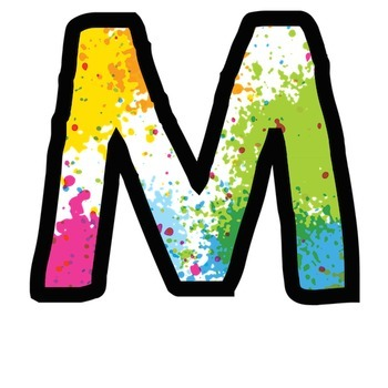 Bulletin Board Letters: Paint Spatter (Classroom Decor)