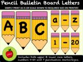 Bulletin Board Letters Pencils