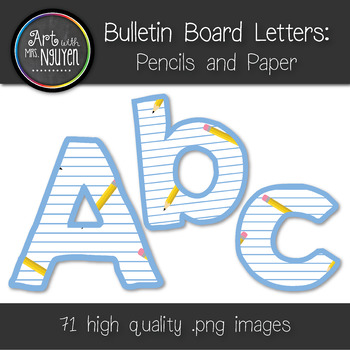Bulletin Board Letters: Pencils and Paper (Classroom Decor)