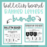 Bulletin Board Letters - Alphabet Pennant Banners (BUNDLE)