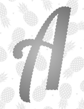 Bulletin Board Letters Pineapple Background
