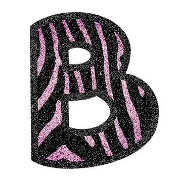 Bulletin Board Letters: Pink Glitter Zebra Stripe (Classroom Decor)