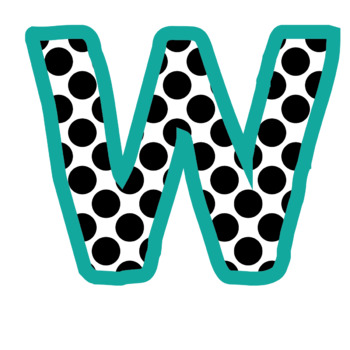 Bulletin Board Letters: Pink and Teal Polkadot (Classroom Decor)