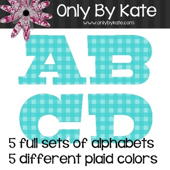 Bulletin Board Letters, Plaid, Plaid, Plaid, Print Your Own