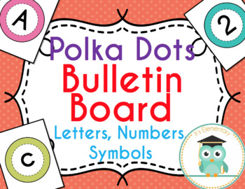 Bulletin Board Letters (Polka Dots)