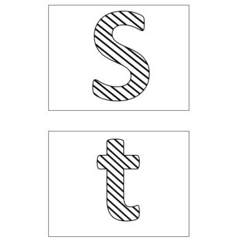 Bulletin Board Letters: Stripes Design SAMPLE