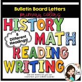 Bulletin Board Letters (Primary Colors)