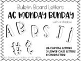 Bulletin Board Letters - Printable - AG Monday Bunday - Shadowed