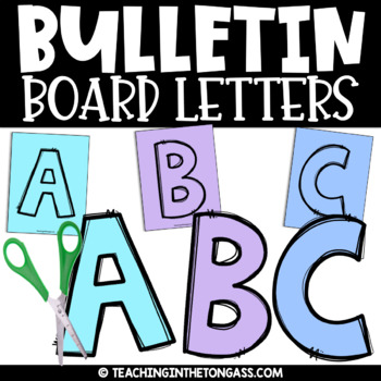 picture regarding Free Printable Bulletin Board Letters Pdf known as Bulletin Board Letters Printable A-z Worksheets TpT