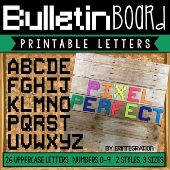 bulletin board letters printable pixel art letters and numbers