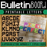 Bulletin Board Letters:  Printable Pixel Art Letters and Numbers