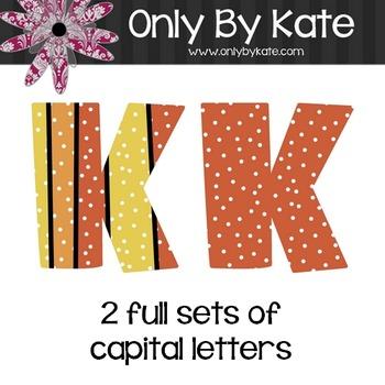 Bulletin Board Letters, Pumpkin Pie, Print Your Own