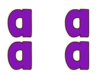 Bulletin Board Letters Purple