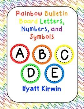 Bulletin Board Letters: Rainbow