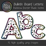 Bulletin Board Letters: Rainbow Border Music Notes (Classroom Decor)