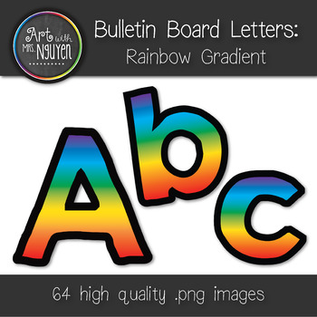 Bulletin Board Letters: Rainbow Gradient (Classroom Decor)