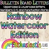 Bulletin Board Letters: Rainbow Watercolor