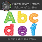 Bulletin Board Letters: Rainbow of Scribbles (Classroom Decor) Chalkboard